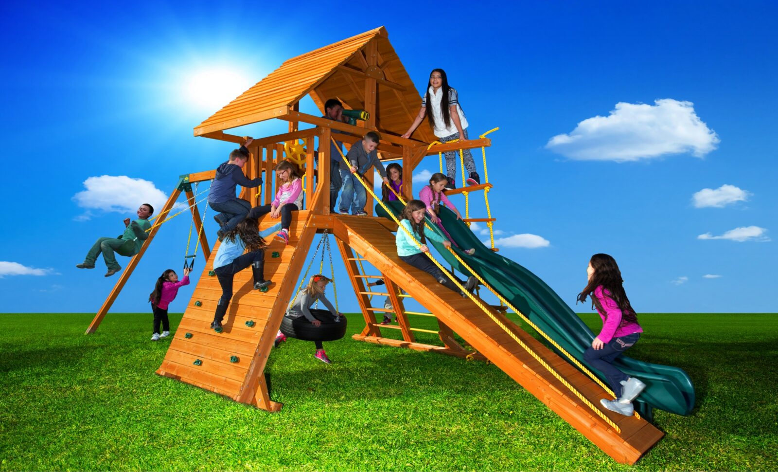 Picture of: Backyard Playground Equipment Swing Sets Toronto Funscapes